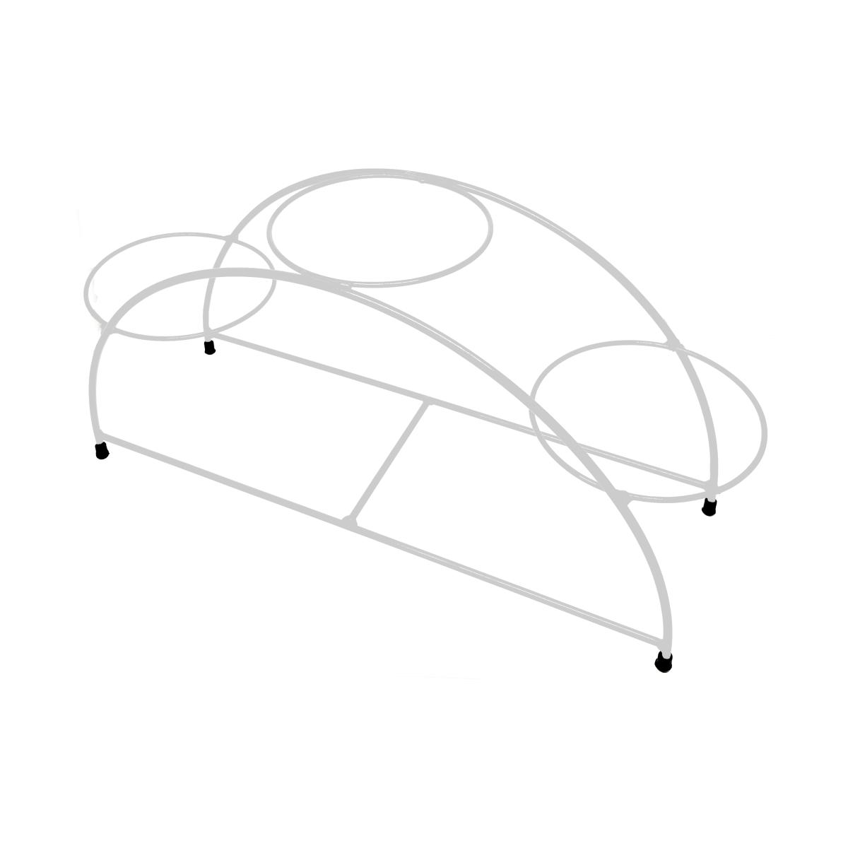 Suporte branco para 03 Vasos Autoirrigáveis tamanho Médio N03 Raiz (não acompanha vasos e plantas)