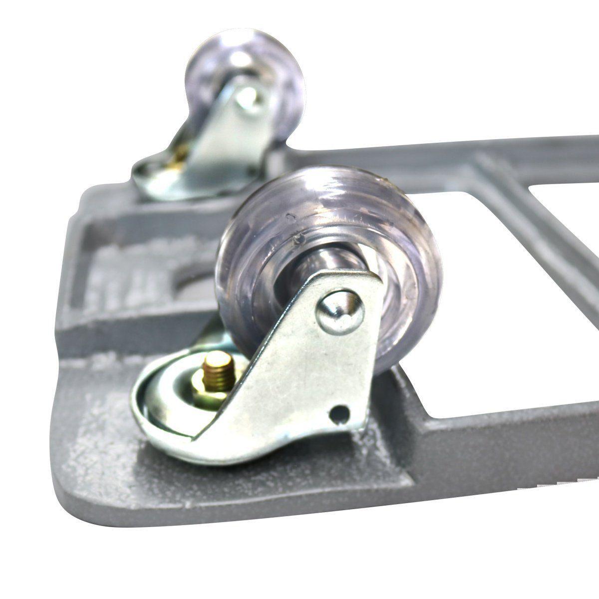 Suporte com Rodízios Retangular 80cm em Alumínio Fundido Branco
