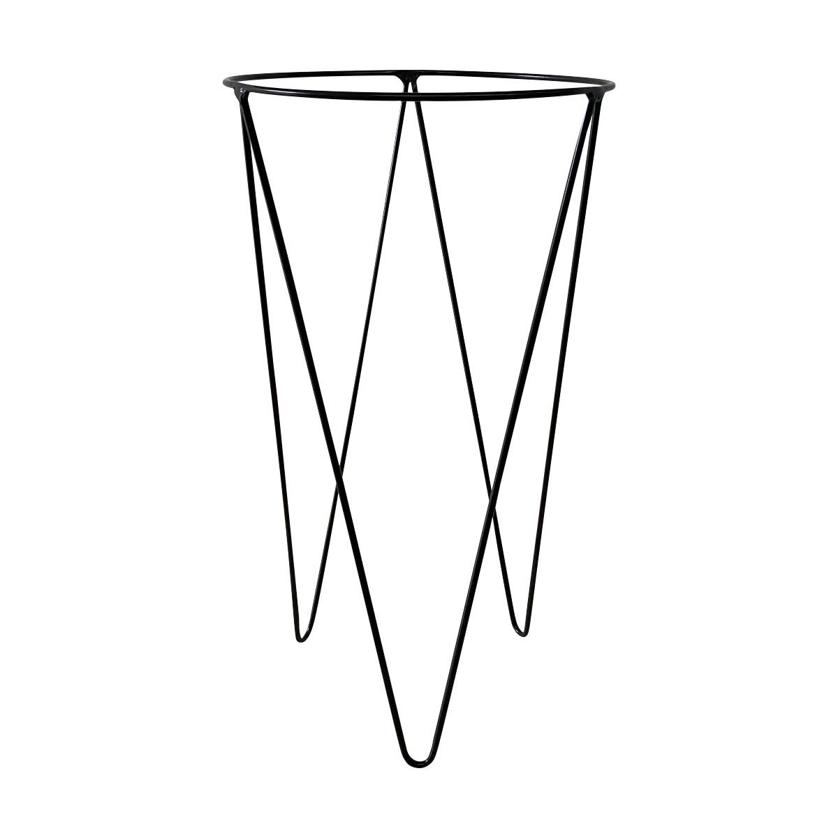 Suporte de Ferro Preto para Vaso Novel Pequeno 55,5cm - 5752