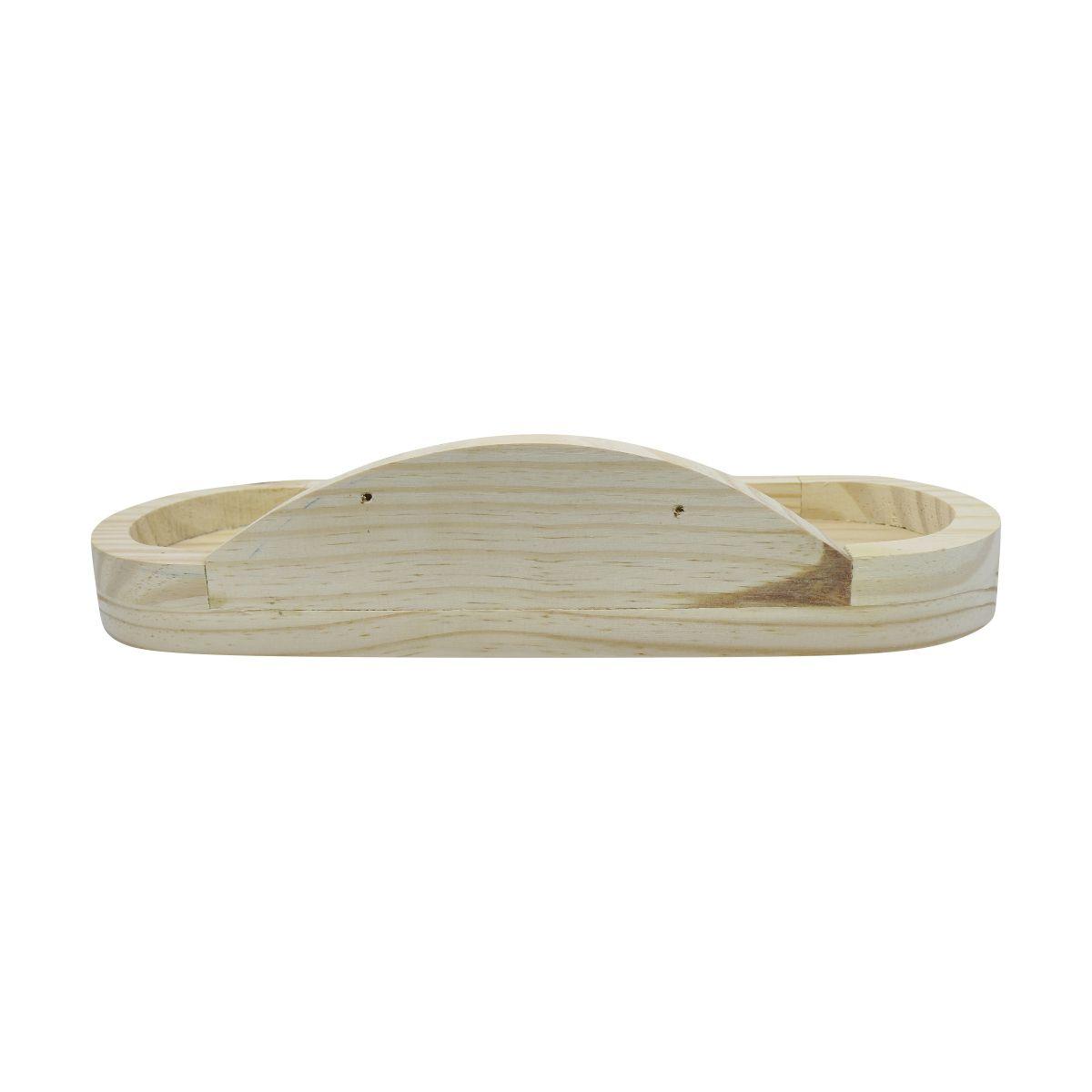 Suporte de Parede para Jardineira Autoirrigável Raiz em madeira pinus