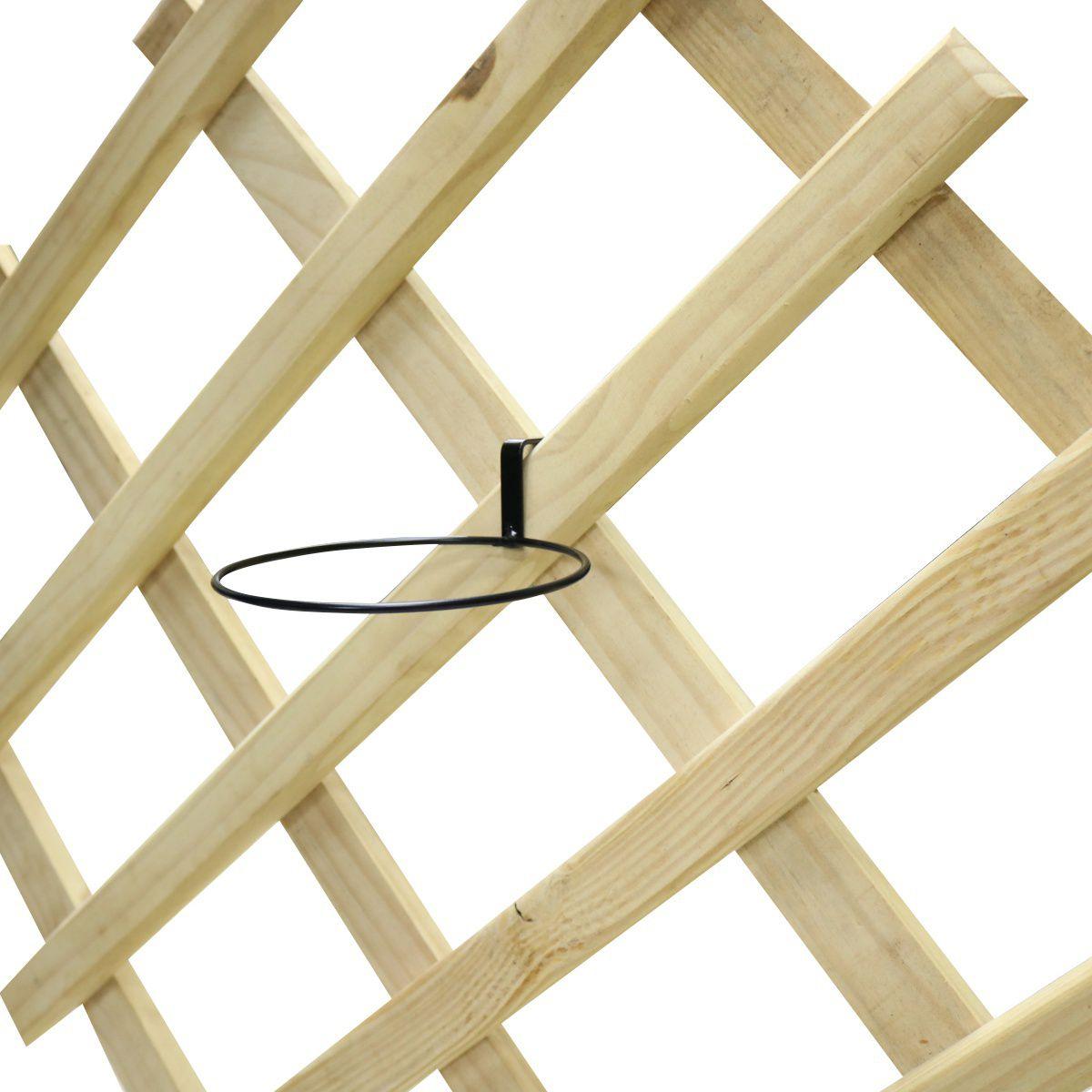 Suporte de Treliça Diagonal Preto para Vaso Autoirrigável Médio Raiz