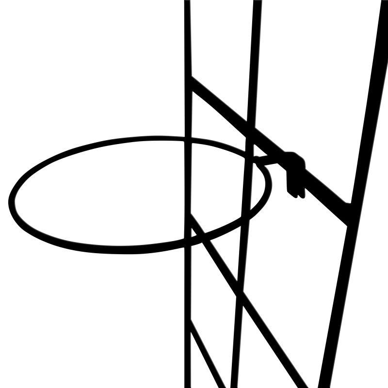 Suporte de treliça preto para Vaso Autoirrigável Grande Raiz (Treliça de ferro Vintage)