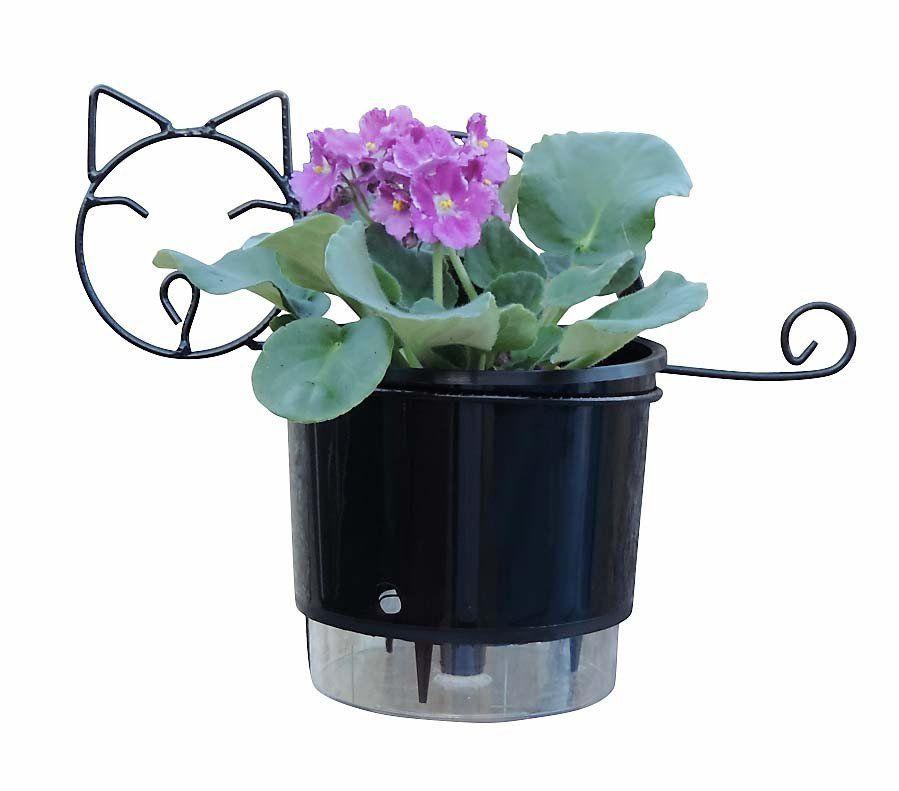 Suporte para Vasos de Plantas de Parede Gatinho para Vaso Autoirrigável Médio N03