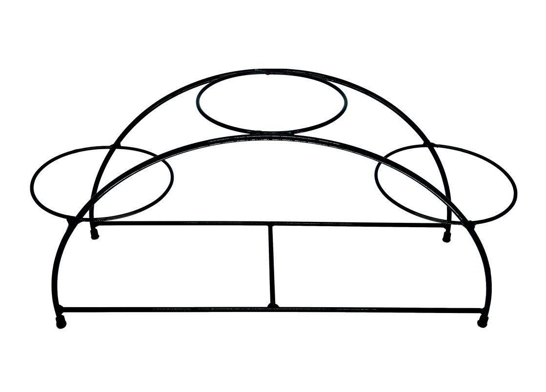 Suporte preto para 03 Vasos Autoirrigáveis tamanho Médio N03 Raiz (não acompanha vasos e plantas)
