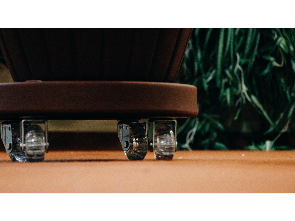 Suporte Redondo com Rodízios Vogue cor Ferrugem 30cm - SRP30-FE