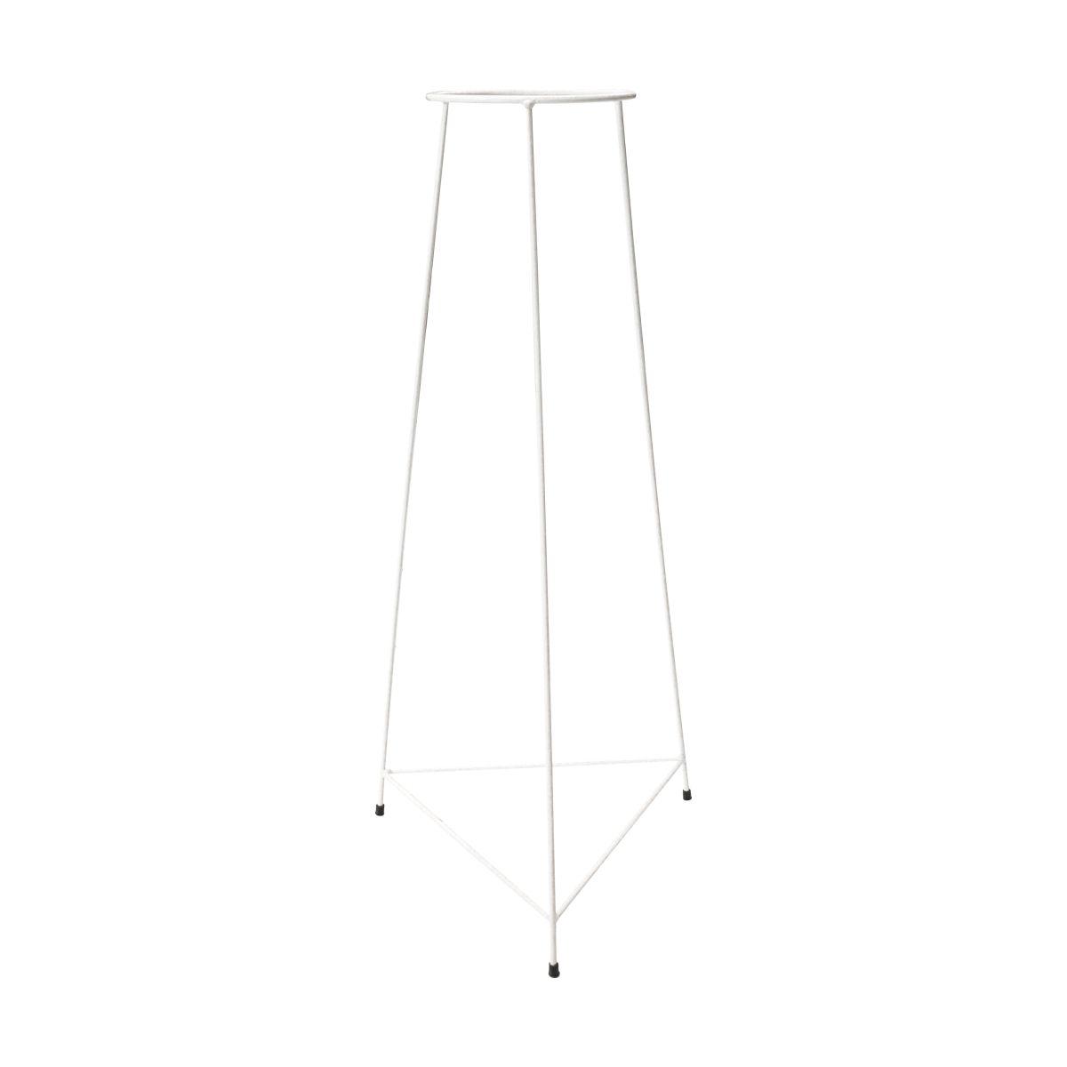 Suporte Tripé Triangular Branco 70cm para Vaso Autoirigável Grande N04 Raiz