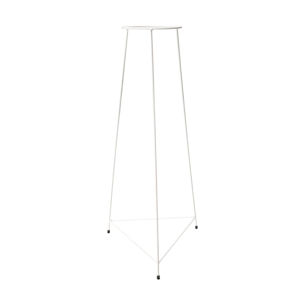 Suporte Tripé Triangular Branco 90cm para Vaso Autoirigável Grande N04 Raiz