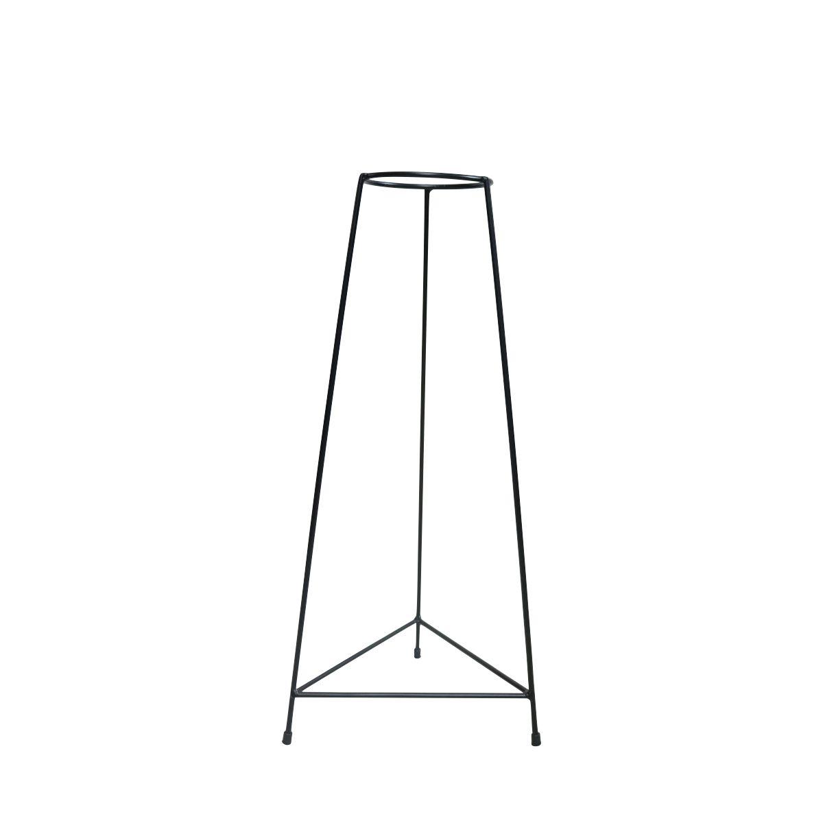 Suporte Tripé Triangular Preto 60cm para Vaso Autoirigável Médio N03 Raiz