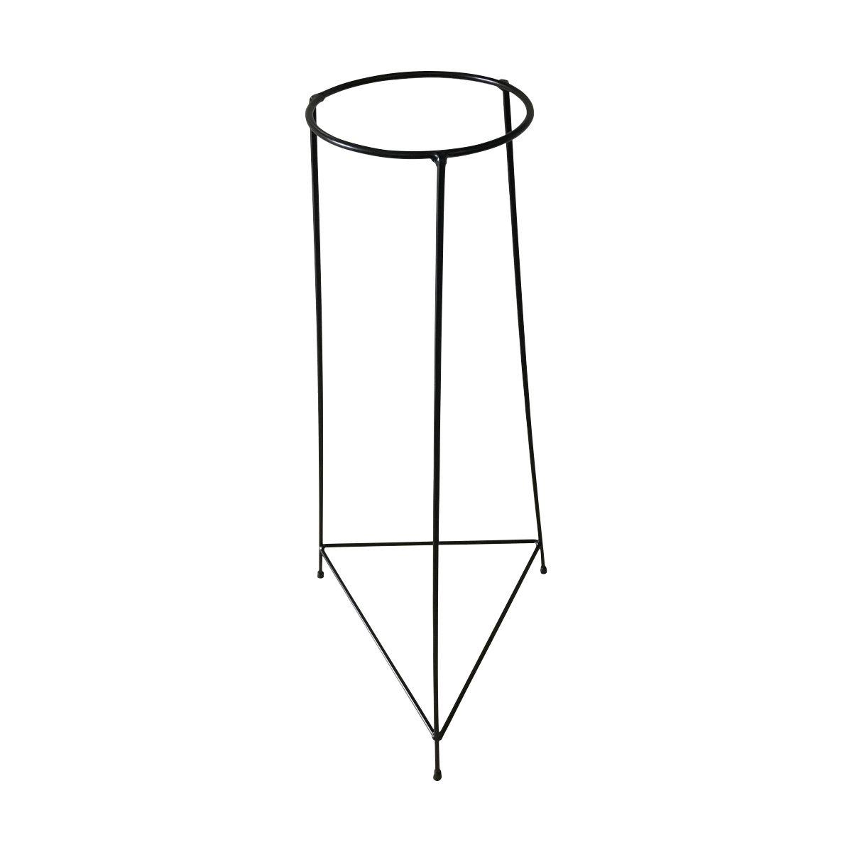 Suporte Tripé Triangular Preto 80cm para Vaso Autoirigável Grande N04 Raiz