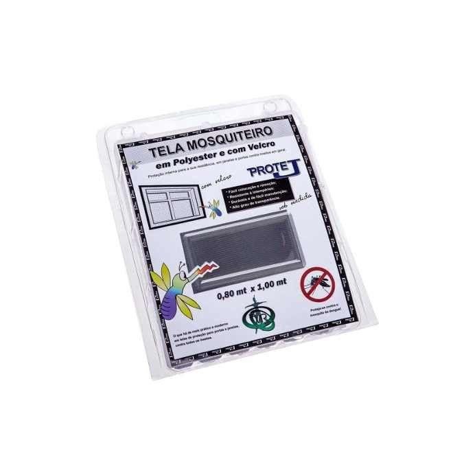 Tela Mosquiteiro em polyester 0,80 x 1,00 Cinza com fechos de contato marca VELCRO®