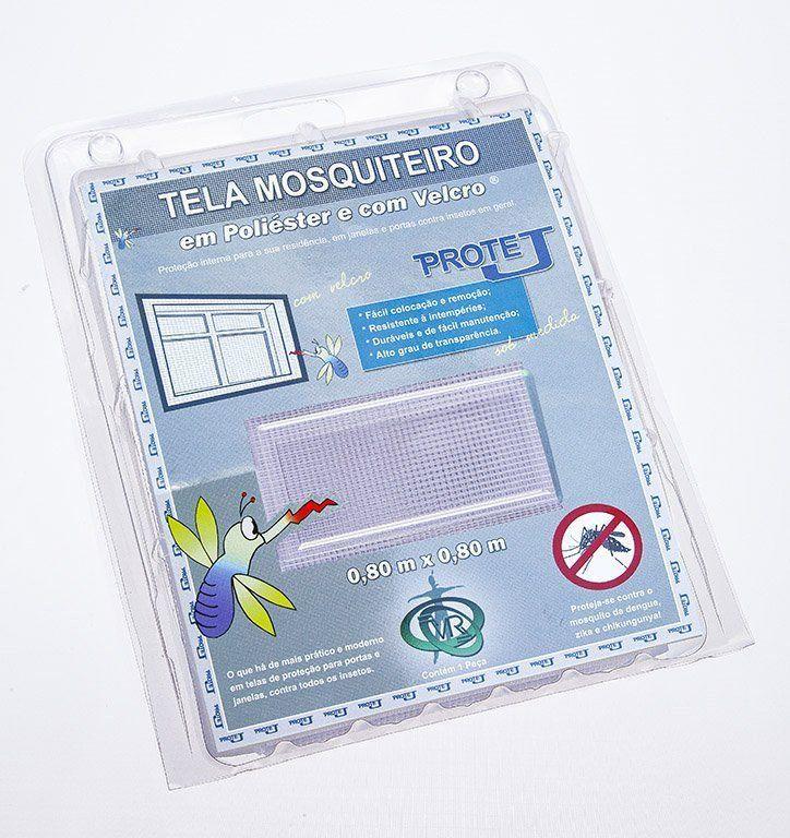 Tela Mosquiteiro em polyester 0,80 m x 0,80 m Branco com fechos de contato marca VELCRO®