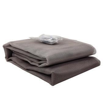 Tela Mosquiteiro em polyester 0,80 m x 0,80 m Cinza com fechos de contato marca VELCRO®