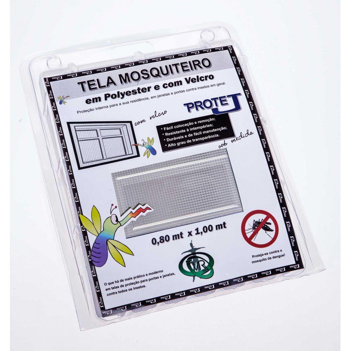 Tela Mosquiteiro em polyester 0,80 x 1,00 Branco com fechos de contato marca VELCRO®