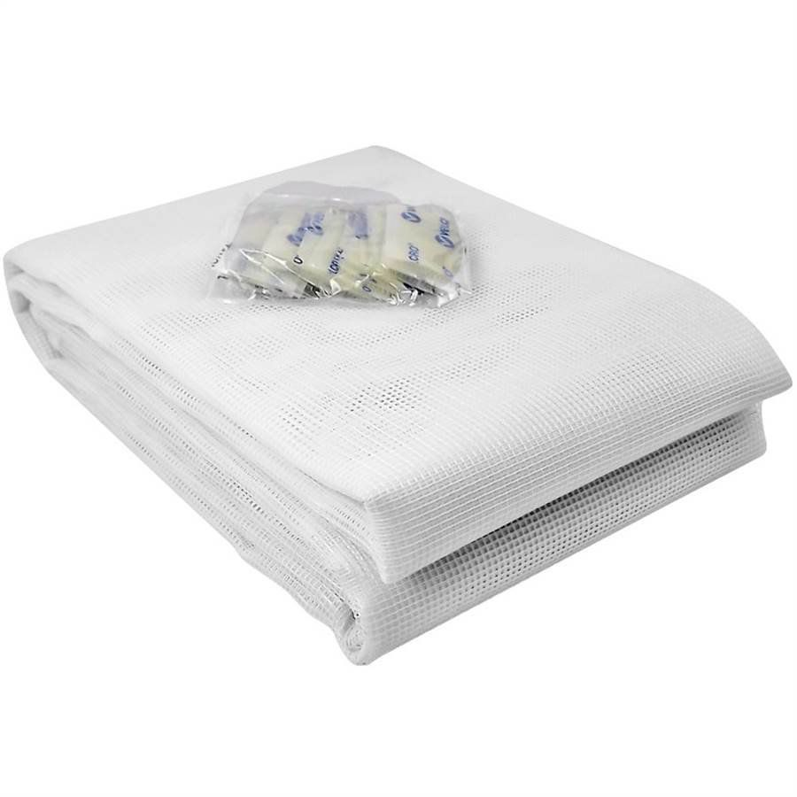 Tela Mosquiteiro em polyester 1,25 x 1,05 Branco com fechos de contato marca VELCRO®