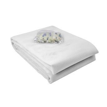 Tela Mosquiteiro em polyester 1,25 x 2,25 Branco com fechos de contato marca VELCRO®
