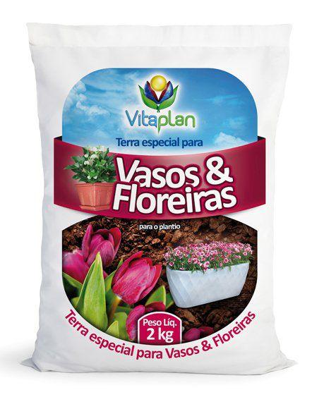 Terra Especial para vasos e floreiras 2kg - Vitaplan