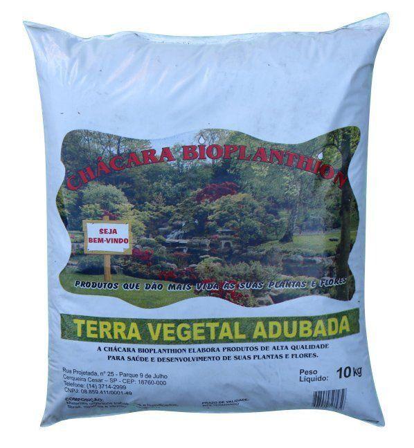 Terra Vegetal Adubada 10kg Bioplanthion