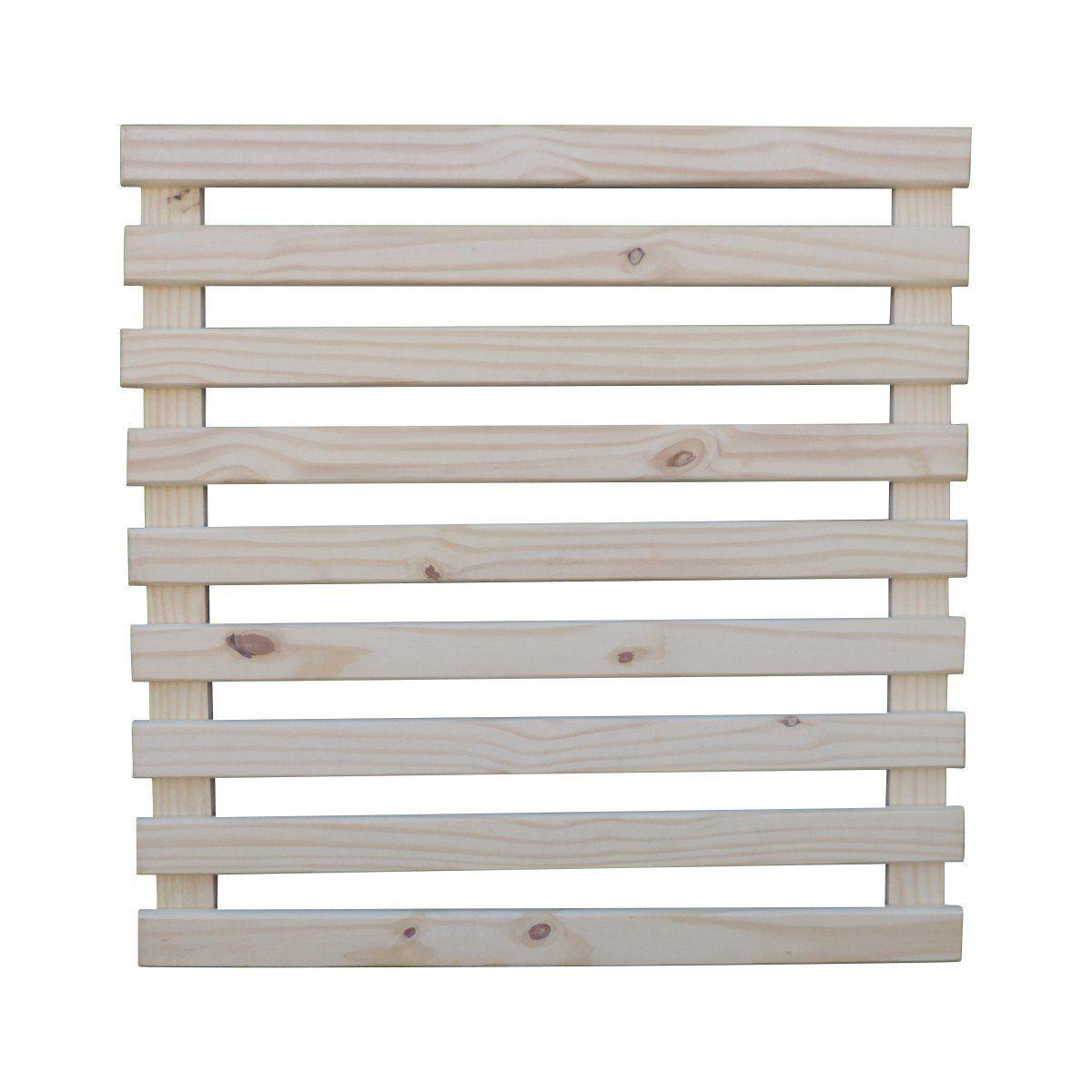 Treliça de madeira 100cm x 100cm para jardim vertical