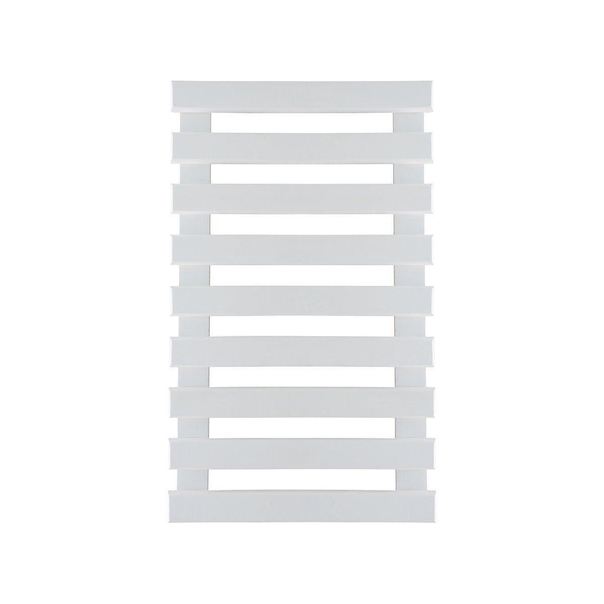 Treliça de madeira 100cm x 60cm para jardim vertical cor Branca