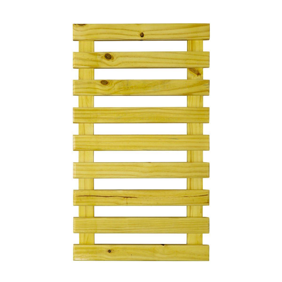 Treliça de Madeira 100cm x 60cm para Jardim Vertical Natural com tratamento para áreas externas