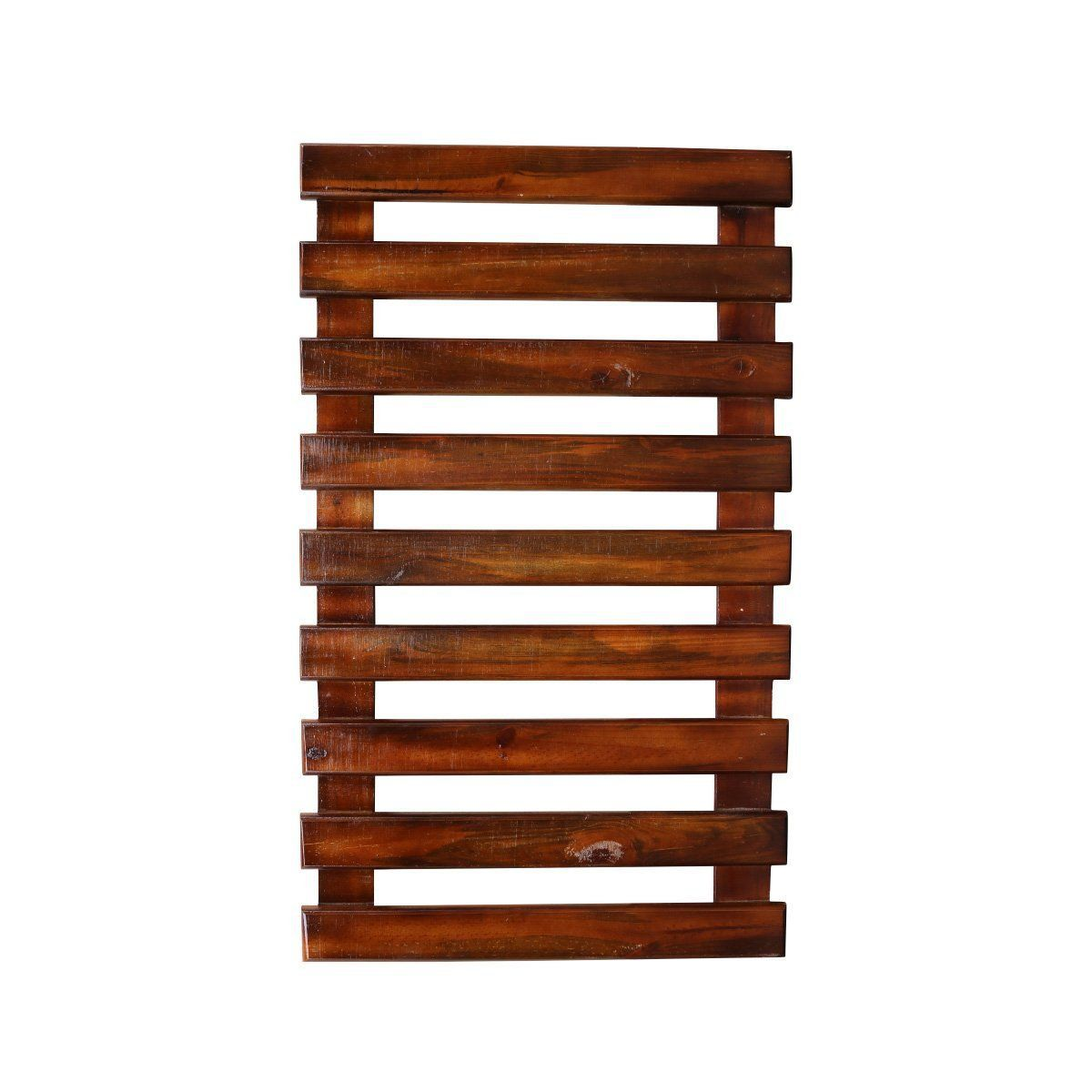 Treliça de madeira 100cm x 60cm para jardim vertical cor Nogueira