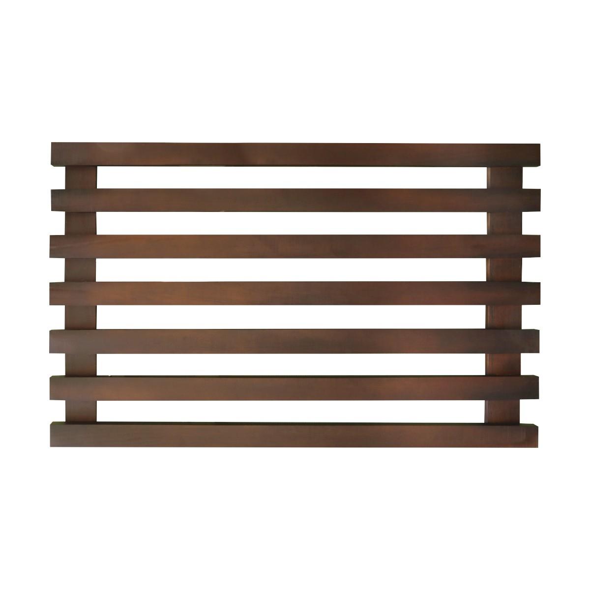 Treliça de madeira 60cm x 100cm para jardim vertical sem cantos arredondados cor Nogueira