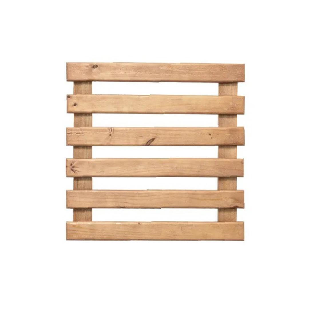Treliça rústica de madeira tratada 60cm x 60cm para jardim vertical