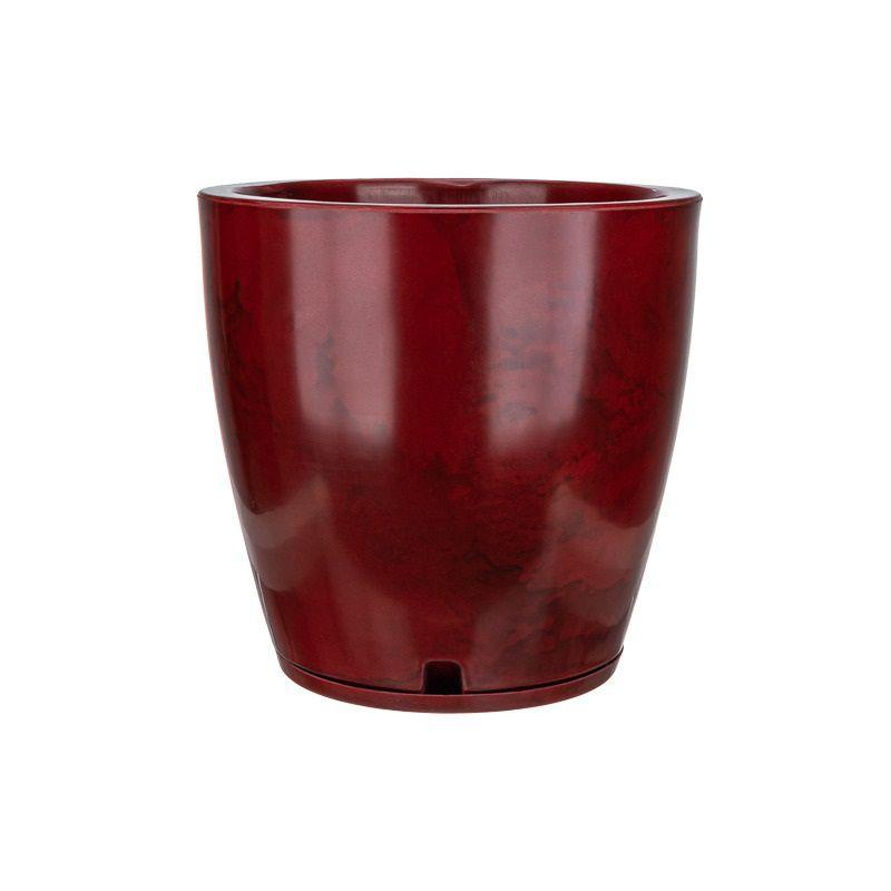 Vaso Amsterdã Marmorato 45cm x 40cm Vermelho