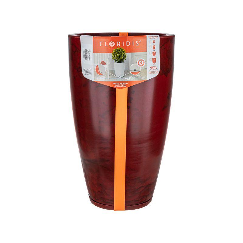 Vaso Amsterdã Marmorato Vermelho 65cm x 35cm