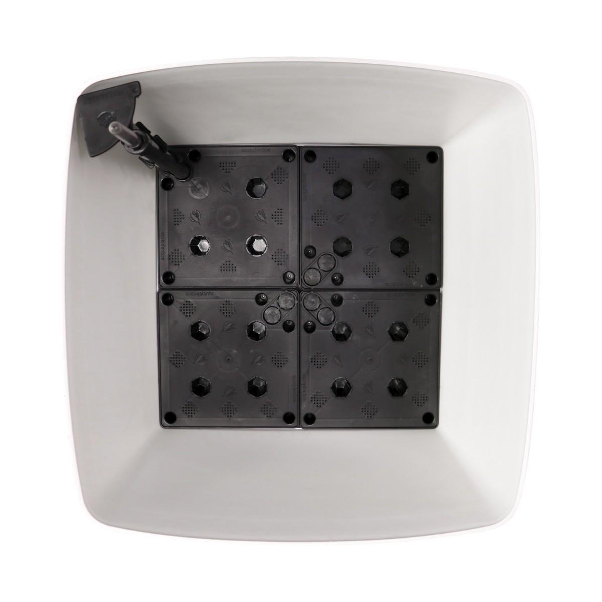 Vaso Autoirrigável Acqua Planta Quadrado Branco 49cm x 49cm