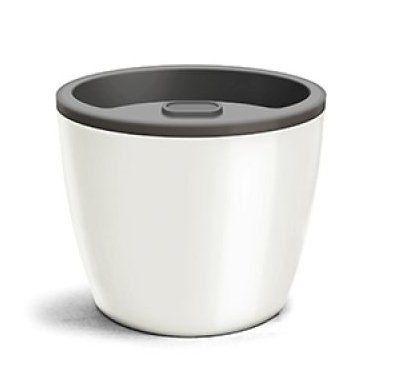Vaso Autoirrigável Elegance 03 Branco 12,5cm x 15cm