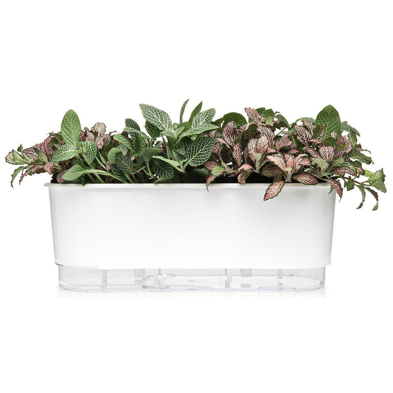 Vaso Autoirrigável Jardineira Branco 40cm Raiz