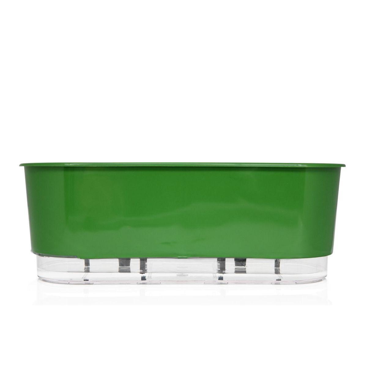 Vaso Autoirrigável Jardineira Verde Escuro 40cm Raiz