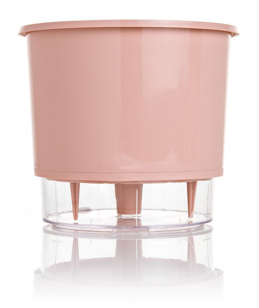 Vaso Autoirrigável Médio N03 16 cm x 14 cm Rosa Quartzo Linha Wishes