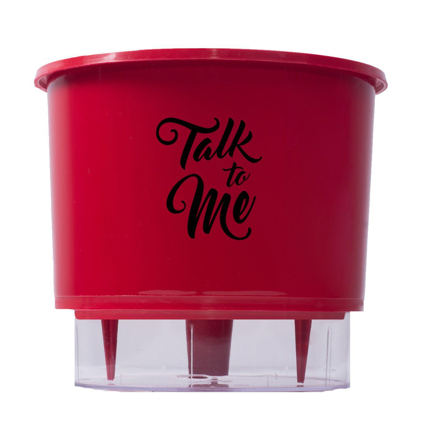 Vaso Autoirrigável Médio N03 Raiz Vermelho Linha Frases 16cm x 14cm Talk To Me
