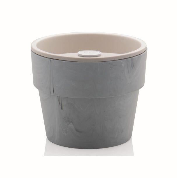 Vaso Autoirrigável Pequeno Concreto Linha Plantar < Ou >
