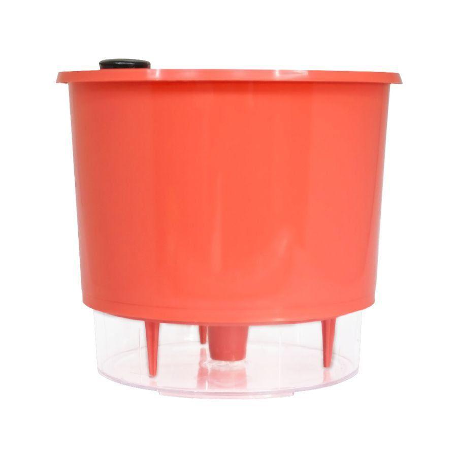 Vaso Autoirrigável Pequeno N02 12 cm x 11 cm Coral Linha Wishes