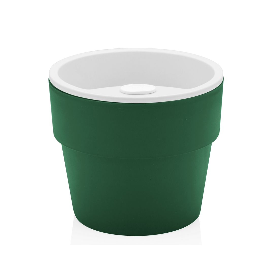 Vaso Autoirrigável Pequeno Verde Botânico Linha Plantar < Ou >