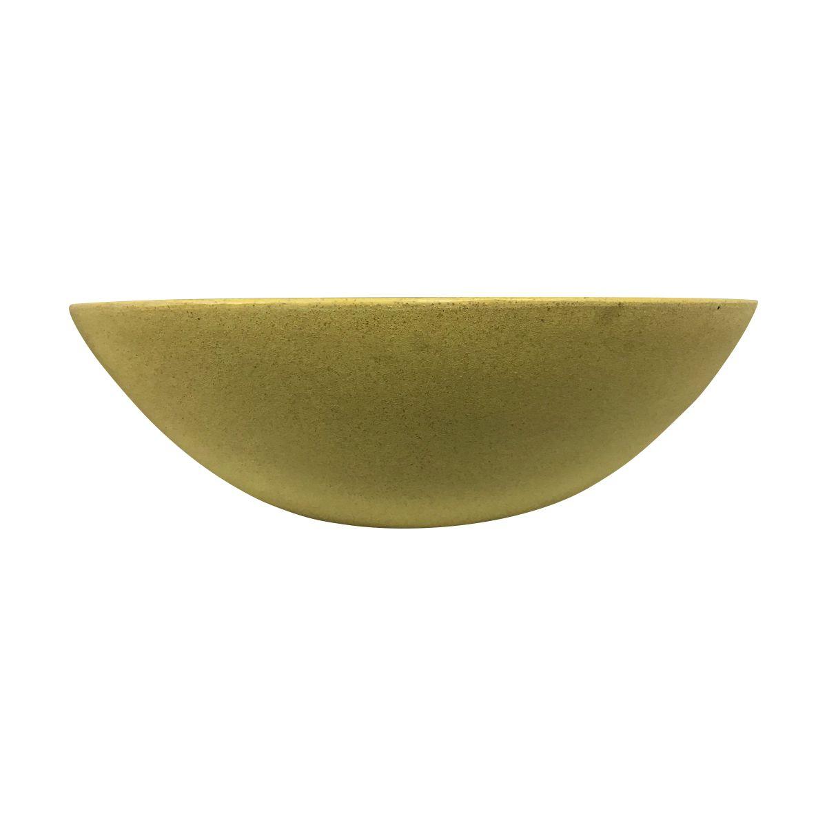 Vaso Bacia Médio cor Areia Escuro 17cm x 52cm - 6725