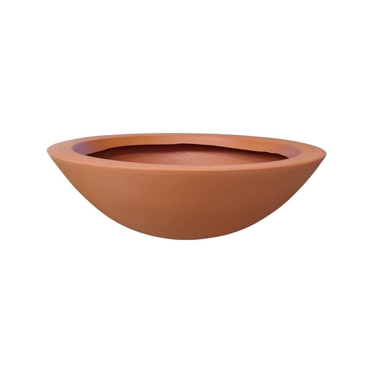 Vaso Bacia Médio cor Terracota 17cm x 52cm - 6739