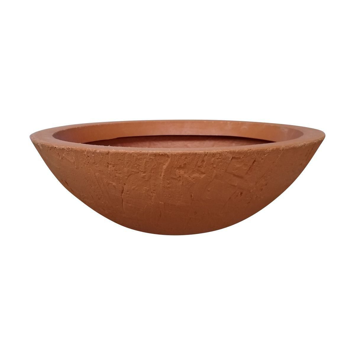 Vaso Bacia Rústica Médio cor Terracota 17cm x 52cm - 6755