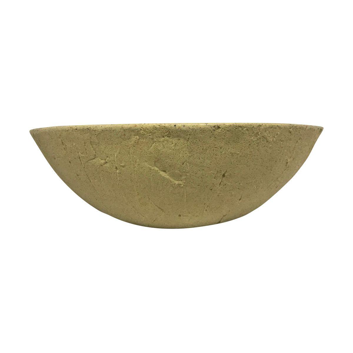 Vaso Bacia Rústica Pequeno cor Areia Claro 12cm x 35cm