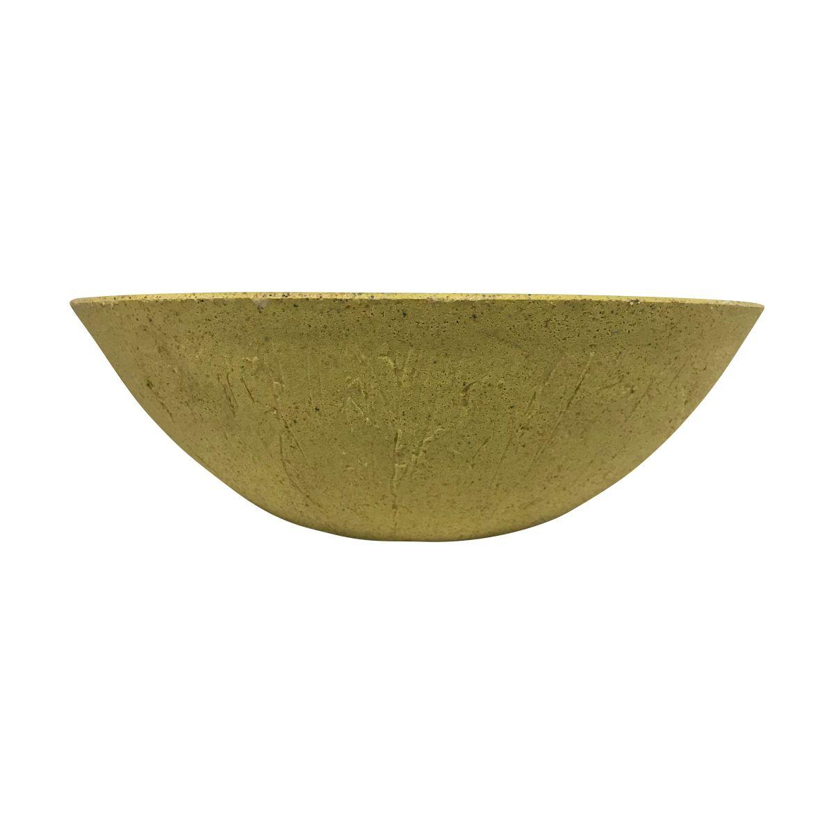Vaso Bacia Rústica Pequeno cor Areia Escuro 12cm x 35cm - 6709
