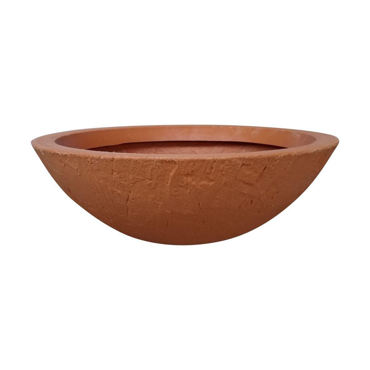 Vaso Bacia Rústica Pequeno cor Terracota 12cm x 35cm - 6722