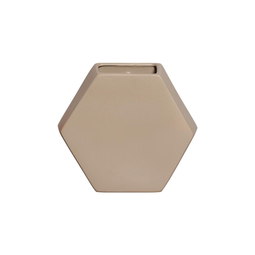 Vaso Cerâmico de Parede Colmeia Clear Coffee 24,5cm x 26,5cm - 6114