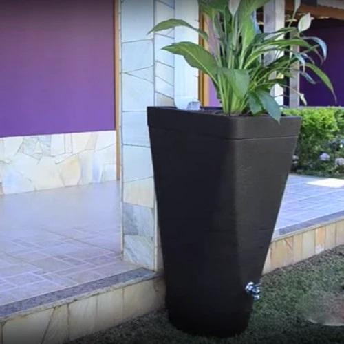 Vaso Coletor de Água Eco Fusion 93cm x 46cm cor Café