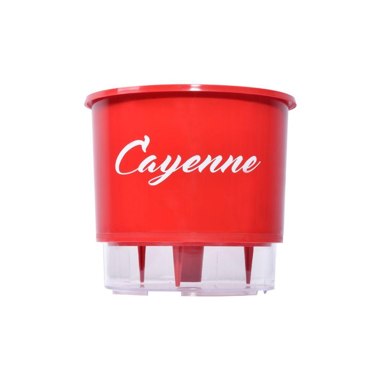 Vaso Autoirrigável Médio N03 Vermelho Linha Pimentas 16 cm x 14 cm