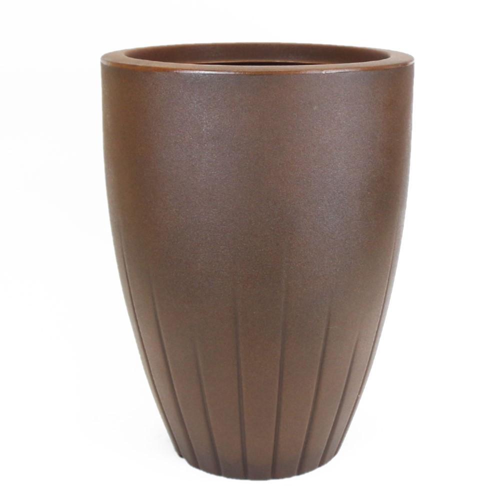 Vaso Cone Frisado Vogue cor Ferrugem 50cm x 31,5cm - CFP1-FE
