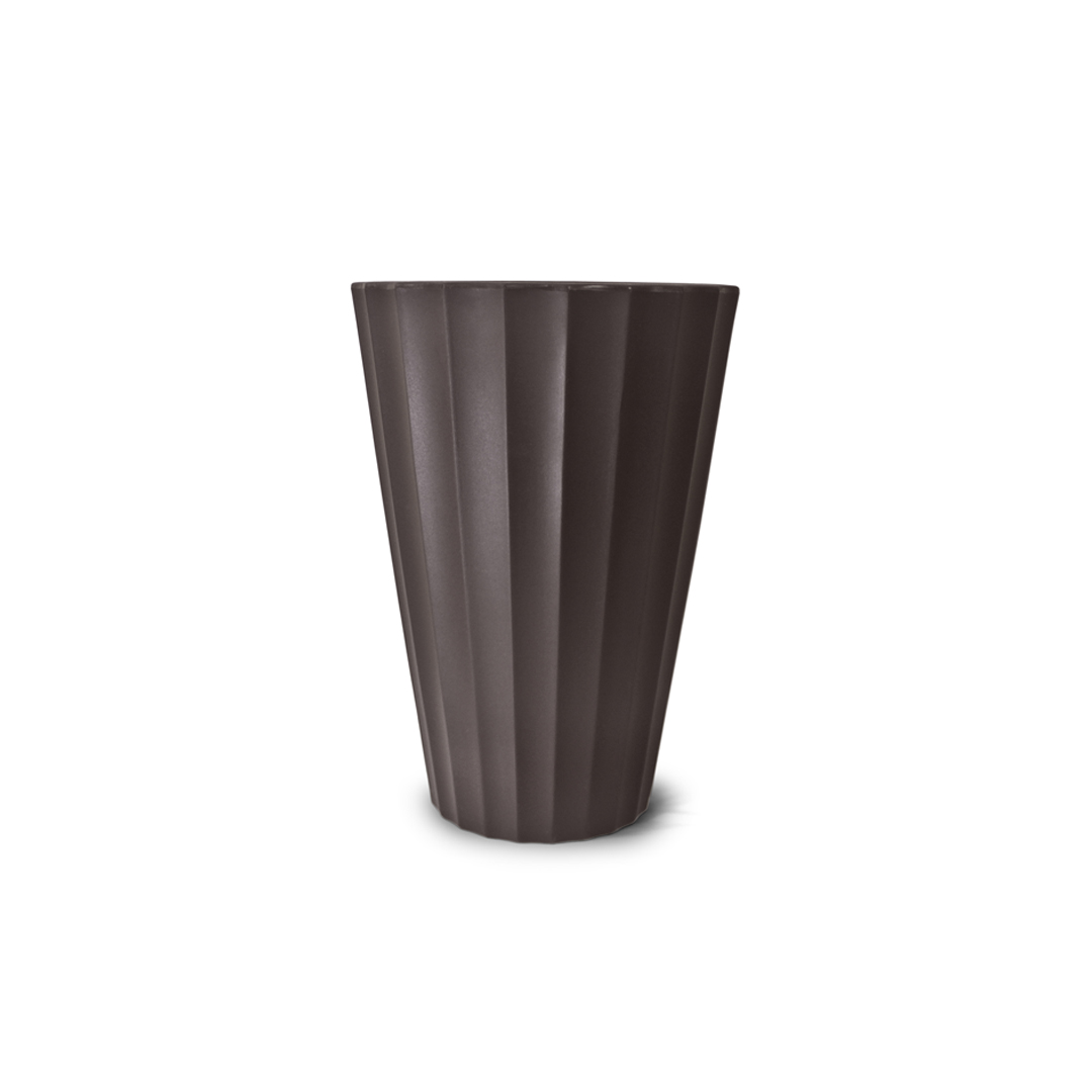 Vaso Creta Cônico 24cm x 17cm Cor Tabaco