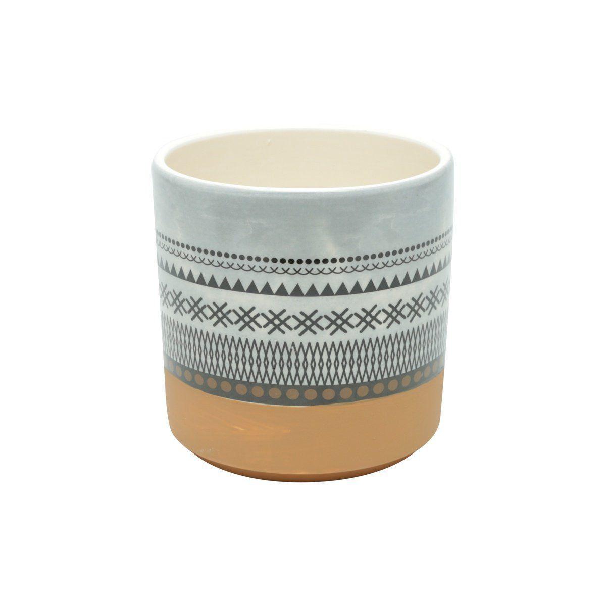 Vaso de Cerâmica Asteca Colorido 14cm x 14cm - 42059